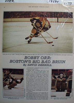 Color photo ad of Bostons big bad Bruin Bobby Orr