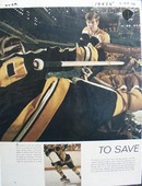 Color photo ad of Boston Bruins great Bobby Orr.