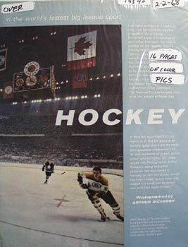 Color photo ad of Toronto Maple Leaf great Allen Stanley.
