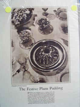 Thanksgiving poems and pudding Ad 1930.
