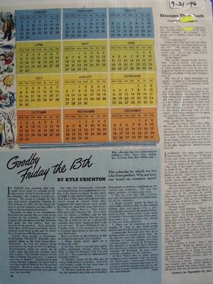 Lieutenant Commander Williard E. Edwards calendar Ad 1946.