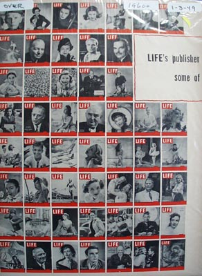Life through Life covers Ad 1949. Ad was published 1/3/49