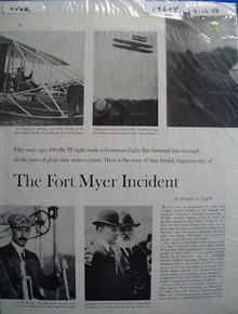 Orville Wrights forgotten Fort Myer Incident photo Ad 1958