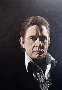 Color Johnny Cash illustration by Herb Davidson.