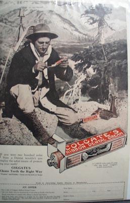 Colgate ribbon dental cream Ad 1923.