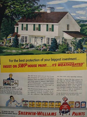 Sherwin-Williams weatherated paint Ad 1951.