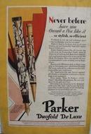 Parker duofold De Luxe pen Ad 1929