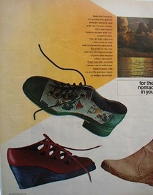 Bloomingdales shoe line Ad 1972.