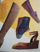 Bloomingdales shoe line Ad 1972.