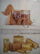 Princess Gardner golden leather purse and accessories Ad 1960
