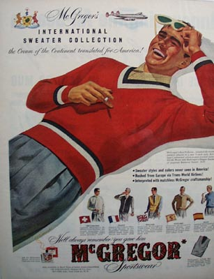 Mc Gregor international sweater collection Ad 1952.