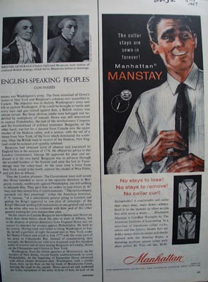 Manhattan Manstay collar shirts Ad 1957.