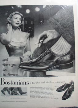 Bostonians the shoe with the dress rehearsal Ad 1956.