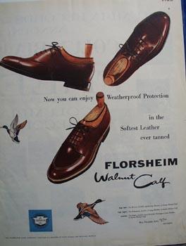 Florsheim walnut calf Ad 1955