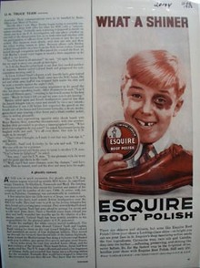 Esquire boot polish Ad 1956