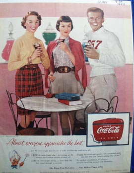 Coca-Cola almost everyone appreciates the best Ad 1955