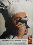 Sanka coffee lets you sleep Ad 1957