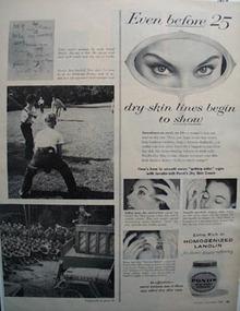 Lanolin dry skin cream Ad 1956.
