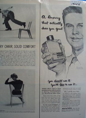 Aqua Velva after-shave Norman Rockwell picture Ad 1953