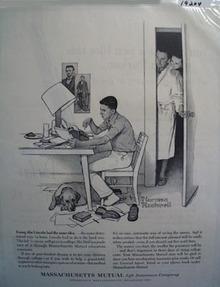 Massachusetts Mutual a young Abe Ad 1962.