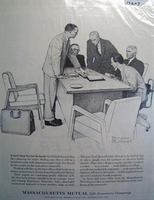 Massachusetts Mutual protecting your family Ad 1962