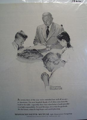 Massachusetts Mutual prayer for a bright future Ad 1962.