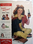 Royal Crown cola Shirley Temple Ad 1944.