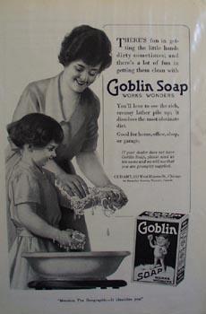 Goblin soap works wonders Ad 1919.