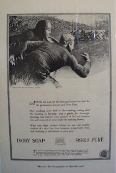 Ivory soap the athletes choice Ad 1920.