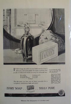 Ivory soap the ladys choice Ad 1920