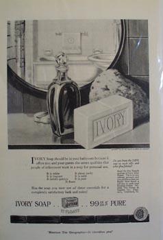 Ivory soap the ladys choice Ad 1920