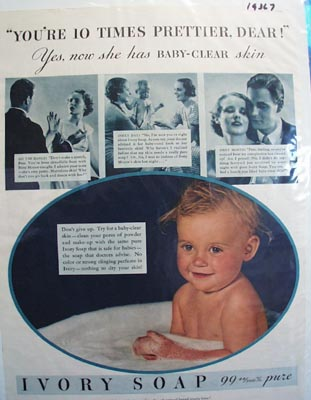 Ivory soap baby clear Ad 1935.