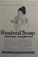 Resinol soap improves complexions Ad 1914.