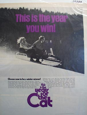 Arctic cat year of the cat Ad 1970.