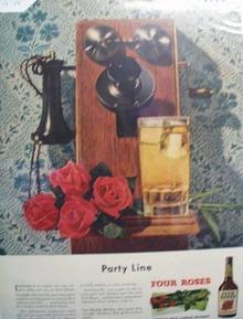 Four Roses Americas famous bouquet Ad 1948.