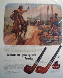 Kaywoodie sweeter as the years go by Ad 1946.