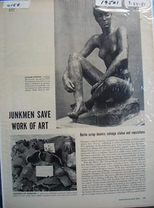 Georg Kolbe Statue Ad 1951.