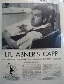 Alfred Gerald Caplin Lil Abners Capp cartoon Ad 1946