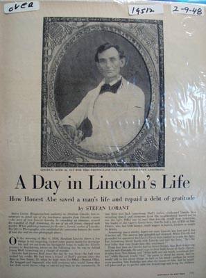A day in Lincolns life Ad 1948