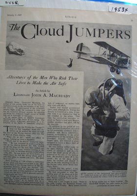The Cloud Jumpers Ad 1927