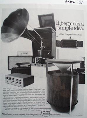 Brand Names A Simple Idea Ad 1968