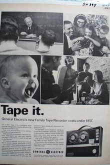 General Electric Family Tape Recorder Ad 1965