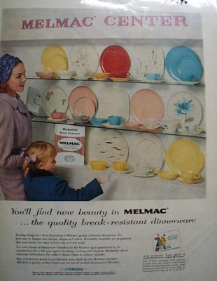 Melmac Center New Beauty Ad 1957