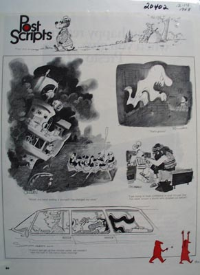 Post Scripts A Page of Cartoons. 1968