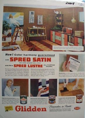 Glidden Paint Color Harmony Ad 1957