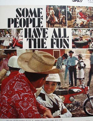 Honda Some People Have All The Fun Ad 1966