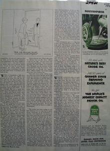 Quaker State Masterpiece Ad 1954