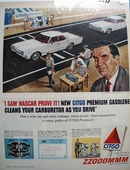 Citgo Gasoline Nascar Proves It Ad 1965