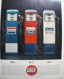 Gulf Oil Three Best Gasoline's Ad 1963