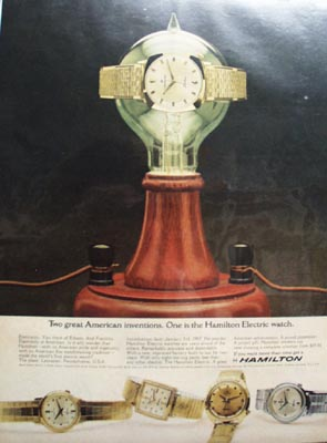Hamilton Watch American Invention Ad 1965